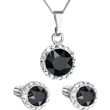 EVOLUTION GROUP 39352.3 černá s krystaly Swarovski® (stříbro 925/1000; 3 g) (8590962394597)