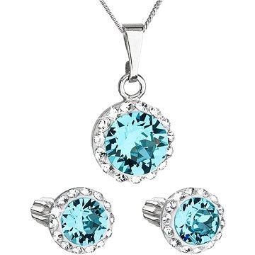 EVOLUTION GROUP 39352.3 lt. turquoise s krystaly Swarovski® (stříbro 925/1000; 3 g) (8590962394627)