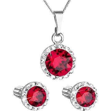 EVOLUTION GROUP 39352.3 ruby s krystaly Swarovski® (stříbro 925/1000; 3 g) (8590962394641)
