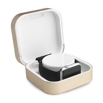 Dobíjecí stanice Hyper ClearGrass Amber + USB power banka pro Apple Watch zlatá (HY-77302100)
