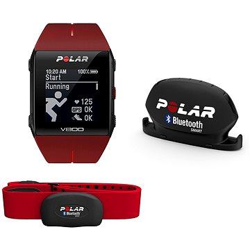 Polar V800 HR červený Combo (8595228003428)