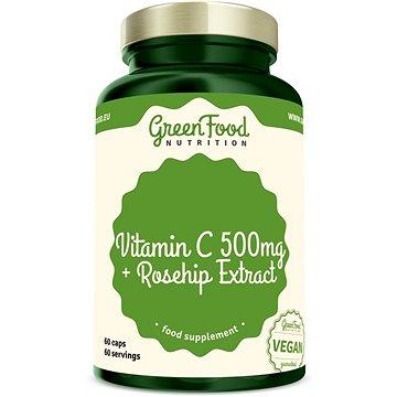 GreenFood Nutrition Vitamín C+ Extrakt ze šípků 60cps (8594193920396)