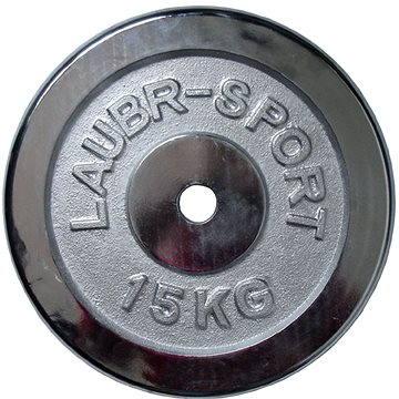 Acra Závaží chromové 15 kg / tyč 25 mm (8595042730357)