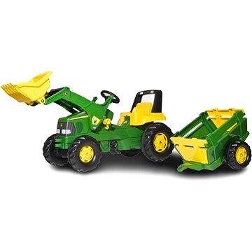 Rolly Toys Šlapací traktor John Deere s nakladačem a vlekem (4006485811496)