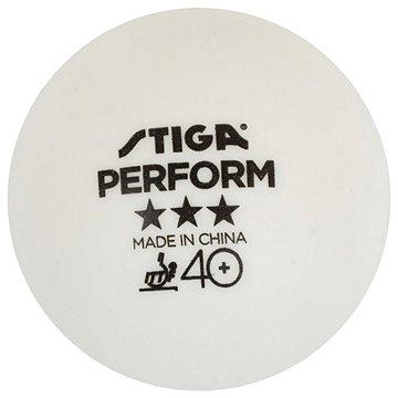 Stiga Perform ***, ITTF, bílé, 3 ks (7318688020276)