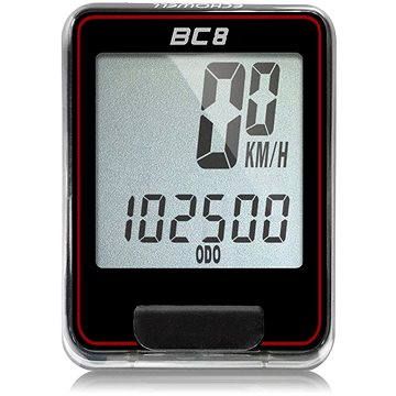 Cyklocomputer Echowell BC8 černočervený (5047241470006)