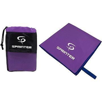 Sprinter - ručník z mikrovlákna 100 × 160 cm - fialový (8888880044176)