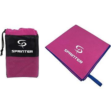 Sprinter - ručník z mikrovlákna 100 × 160 cm - růžový (8888880044183)