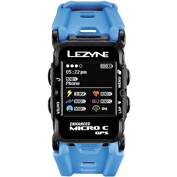GPS hodinky Lezyne GPS Watch Color HR Cyan (4712805987894)