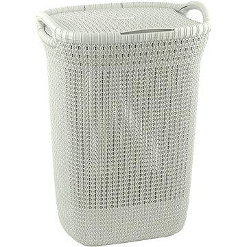 Koš na prádlo Curver koš na prádlo Knit 57L krémový (03676-X64)