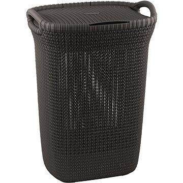 Koš na prádlo Curver koš na prádlo Knit 57L hnědý (03676-X59)