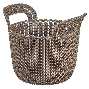 Curver Knit košík kulatý 3L hnědý (03671-X59)