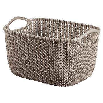 Curver Knit košík kulatý 8L hnědý (03674-X59)