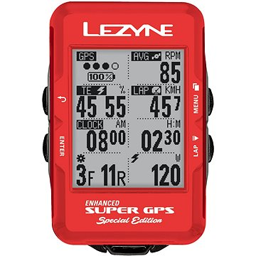 Lezyne Super GPS Special Edition - Red (4712805992683)