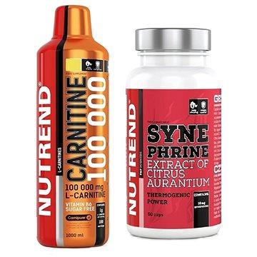Nutrend Carnitine 100000, 1000ml, citron + Nutrend Synephrine, 60 kapslí