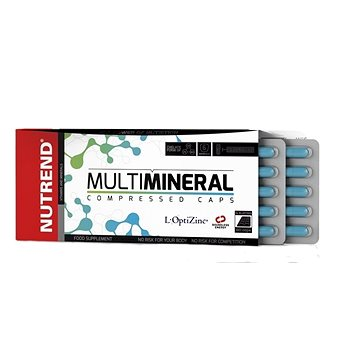 Nutrend Multimineral Compressed Caps, 60 kapslí, (8594073179005)