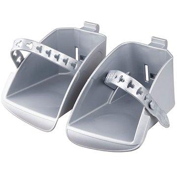 Náhradní stupačky sedačky Polisport Koolah a Boodie, stříbrná (8634400006)