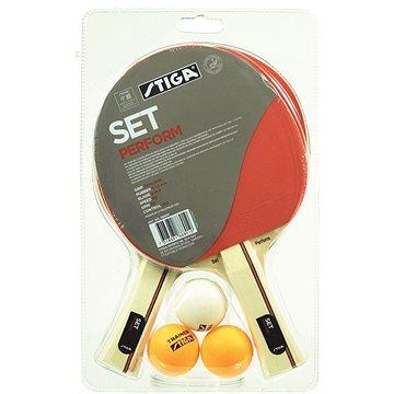 Stiga Perform Set - 2 pálky a 3 míčky (7318681888019)