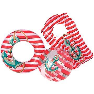 Nafukovací set námořník - kruh, míč, matrace (6942138907100)