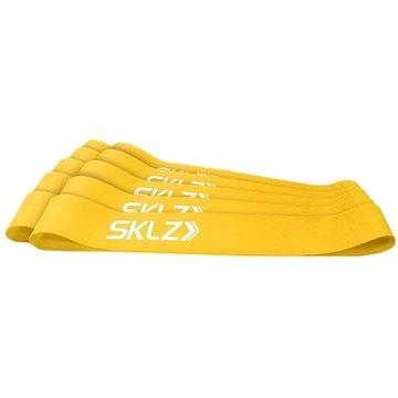 SKLZ Mini Bands - Yellow, posilovací smyčka žlutá, (slabá), 10 ks (849102014894)