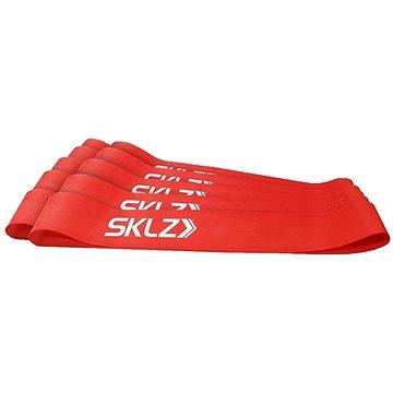 SKLZ Mini Bands - Red, posilovací smyčka červená (střední), 10 ks (849102014887)