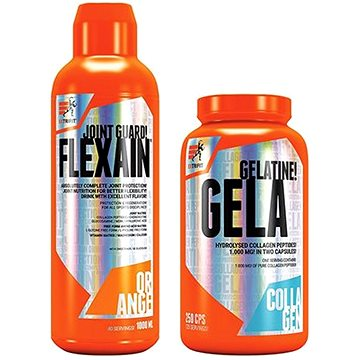 Extrifit Flexain 1000 ml orange + Extrifit Gela 1000 mg 250 cps