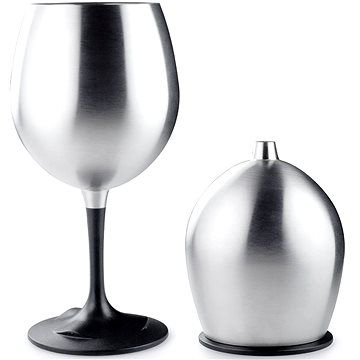 GSI Outdoors Glacier Stainless Nesting Red Wine Glass (63310)
