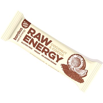 Bombus Raw energy Cocoa + coconut 50 g 4pack(8594068261852)