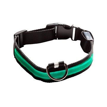 Eyenimal svítící obojek pro psy - zelený (SPTzah0003nad)