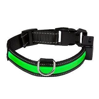 Eyenimal svítící obojek pro psy - zelený - S (3700192303824)