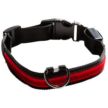 Eyenimal svítící obojek pro psy - červený (SPTzah0013nad)