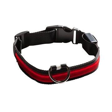 Eyenimal svítící obojek pro psy - červený - XS - XL