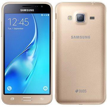 Samsung Galaxy J3 Duos (2016) zlatý (SM-J320FZDDORX) + ZDARMA Digitální předplatné Interview - SK - Roční od ALZY