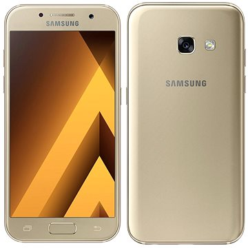 Samsung Galaxy A3 (2017) zlatý (SM-A320FZDNORX) + ZDARMA Digitální předplatné Interview - SK - Roční od ALZY