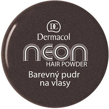 Pudr na vlasy DERMACOL Neon Hair Powder No.8 - Black with glitters 2,2 g (85958401)