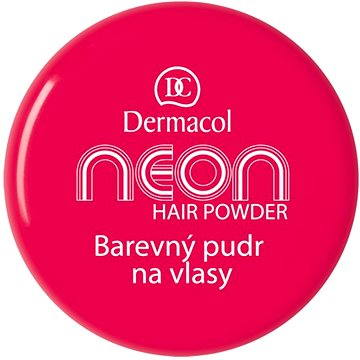 Pudr na vlasy DERMACOL Neon Hair Powder No.8 - Pink with glitters 2,2 g (85958418)