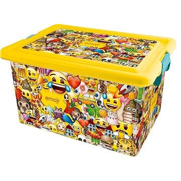 STOR Plastový box 13 L EMOJI (SO5295)