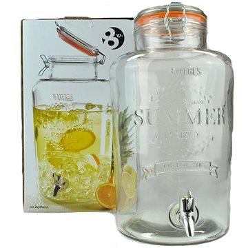 MASER Skleněný zásobník na nápoje s kohoutkem 8l SUMMER FUN (YC150137)