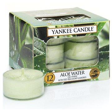 Svíčka YANKEE CANDLE čajové svíčky 12 x 9,8 g Aloe Water (5038580048377)