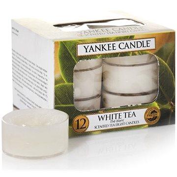 Svíčka YANKEE CANDLE čajové svíčky 12 x 9,8 g White Tea (5038580070620)