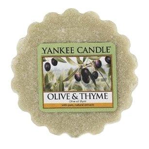 Svíčka YANKEE CANDLE vonný vosk 22g Olive & Thyme (5038580070446)