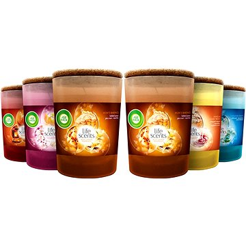 Sada AIRWICK Life Scents svíčky Mix Pack (6x 185g) (5997321758602)