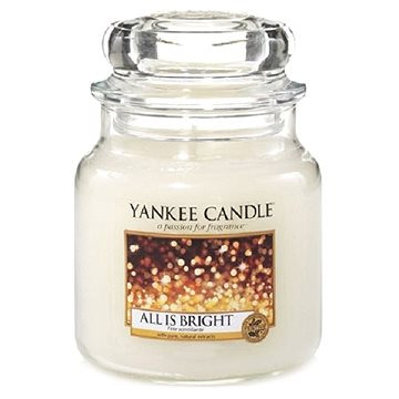 YANKEE CANDLE Classic střední All is Bright 411 g (5038580084771)