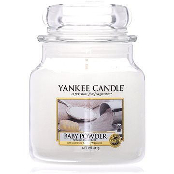 YANKEE CANDLE Classic střední Baby Powder 411 g (5038580001228)