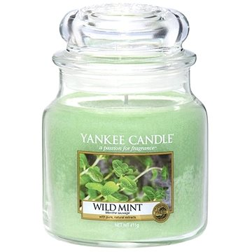 YANKEE CANDLE Classic střední Wild Mint 411 g (5038581008981)