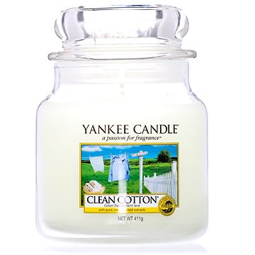YANKEE CANDLE Classic střední Clean Cotton 411 g (5038580000115)