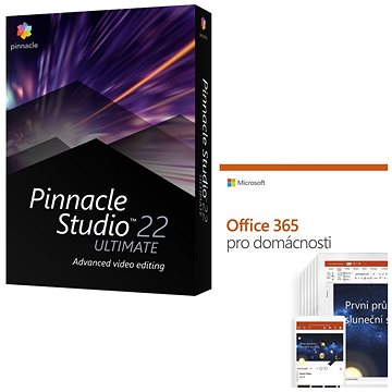 Pinnacle Studio 22 Ultimate + Microsoft Office 365 pro domácnosti (PNST22ULMLEUbund)