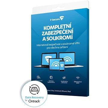 F-Secure TOTAL FAMILY DR pro 5 zařízení na 1 rok + Data Recovery pro 1 zařízení na 1 rok BOX (FCFTBR1N005X2_K)