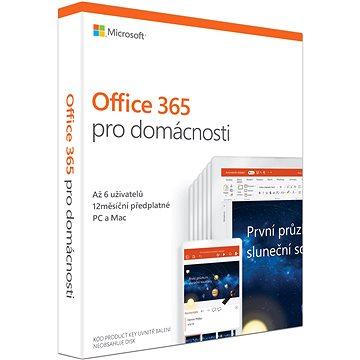 Microsoft Office 365 pro domácnosti CZ (BOX) (6GQ-00898)