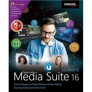 Cyberlink Media Suite 16 Ultimate (elektronická licence) (cybesum16u)